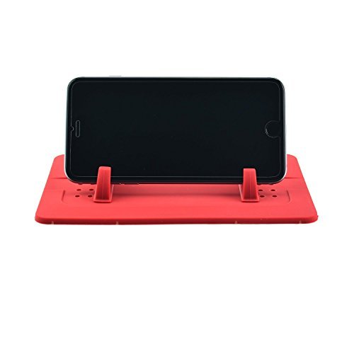Red Outtek New Silicone Pad Dash Mat Cell Phone Car Holder Cradle Dock Car Mount Holder 6234302