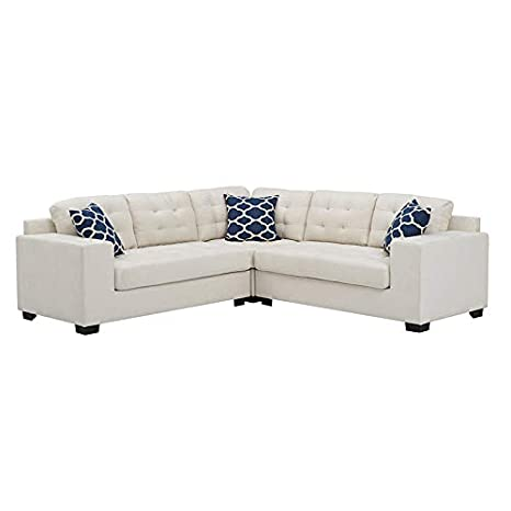 Superb Amazon Com Sectional Sofa With Chaise 3 Piece Set Linen Andrewgaddart Wooden Chair Designs For Living Room Andrewgaddartcom