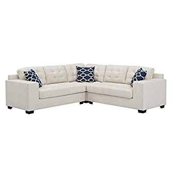 Amazon Com Sectional Sofa With Chaise 3 Piece Set Linen Fabric