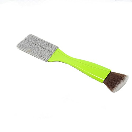 yueton Double Ended Portable Cleaning Brush Mini Hand Held Magic Brush Duster for House, Car, Office, Light Green