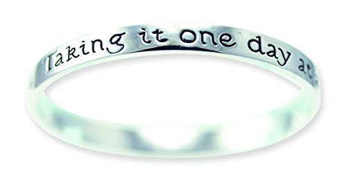 - Cathedral Art MB526 One Day at A Time Antique Silver Plated Bangle Bracelet, 3-Inch