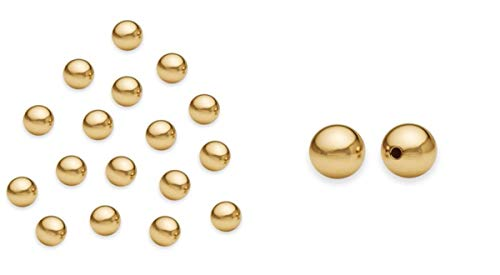 500pcs Top Quality 4mm Small Smooth Round Metal Spacer Beads Gold Plated Brass Metal for Jewelry Craft Making CF252-4