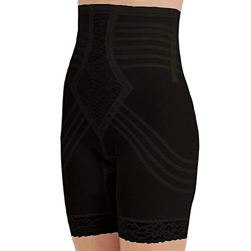 Rago Style 6209 - High Waist Leg Shaper Firm Shaping, 2XL/34 Black
