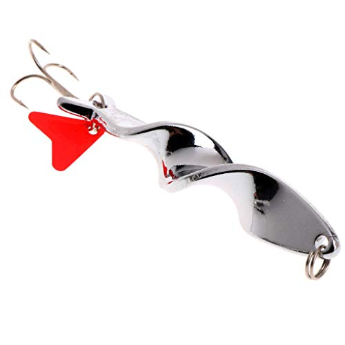 Ameglia Fishing Bait Fish Lure Hook Twist Red Heart Crank baits Spinner Tackle Stylish (Weight - 21g)