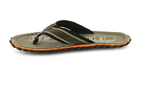 Grünes Neu 12 UK 6 Zehensteg weiß Grün Herren Herren sandalen GRÖßEN Leinen Stil Zehentrenner ww1gAqE