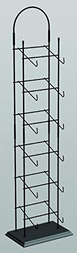 Display Cap tower 6-tier Base Ball Counter Top Black Rack 6-8 Hats Deep