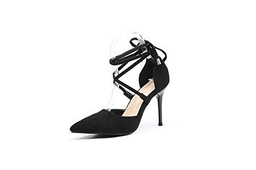Sexy Zapatos DANDANJIE Tacón Zapatos De Tacon Black wq64Tax