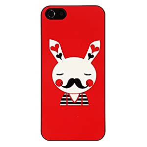 Adorable conejo Patrón Sr. Hard Case para el iPhone 5/5S aluminoso