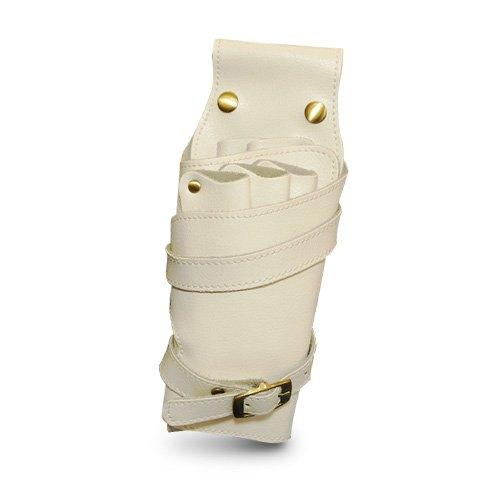 A Real Handicraft! High Grade Genuine Leather Scissors Bag Case 5 Pockets [ Dieppe / White ] Professional Beautician Trimer ( Japan Import ) ()
