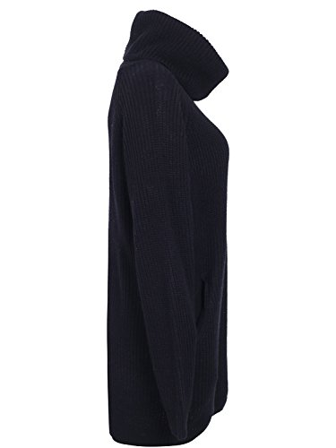 Women's Dress Black Pullover Sweater Warm Loose Oversized Apparel Simplee 5pvq7UP