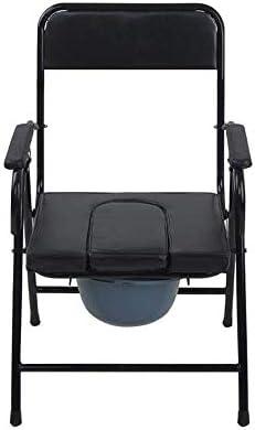 MMPY Faltbare Leichte Toilettenstuhl, Edelstahl Ältere, Mobil Badezimmer Stuhl, Stilvolle Inkontinenz Stuhl abnehmbare Bedpan