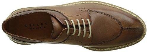 Pellet Vanessa E17 - Zapatos de vestir Mujer Marron (Veau Tamponne Cuoio)