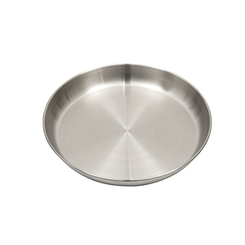 TOPnTOP Stainless Steel Camping Round Plate 8'' by TOPnTOP