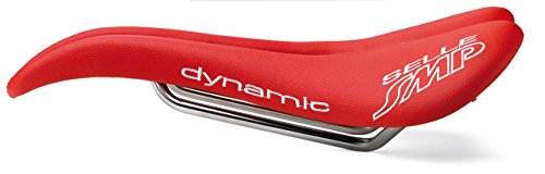 Selle SMP Dynamic Bicycle Saddle Seat - Carbon Rails - Red Made in Italy by SMP