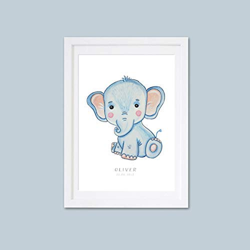 Elefant Bild Kinderzimmer Baby Bild Kinderbild ...