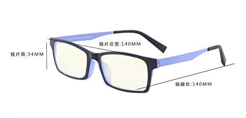 Gafas la espejo negra gafas Radiation de de gafas equipo de caja radiación móvil plano ningún moda prueba hombres a Radiación anti Black azul de negocios grado KOMNY Box 6qxgRR