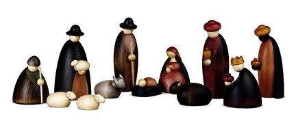 Bjoern Koehler Kunsthandwerk - Nativity Scene Figures - 12 Pieces