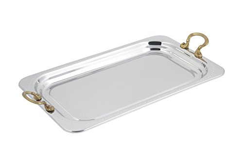 Bon Chef 5307HR Rectangle Full Size Food Pan Bolero Design with Round Handles