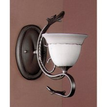 Classic Lighting 4110 WC Treviso, Wrought Iron, Sconce/WallBracket, Weathered Clay