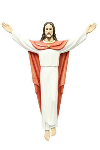 "Vittoria Collection 32"" Risen Resurrection of Jesus Christ Wall Statue Sculpture Figure Gift Made in Italy"