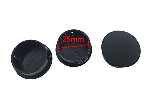 YXQ 1'' Lock Hole Plug Locking Black Plastic Body and Sheet Metal 25mm Dia SK-25, 50-Pack by YXQ (Image #1)