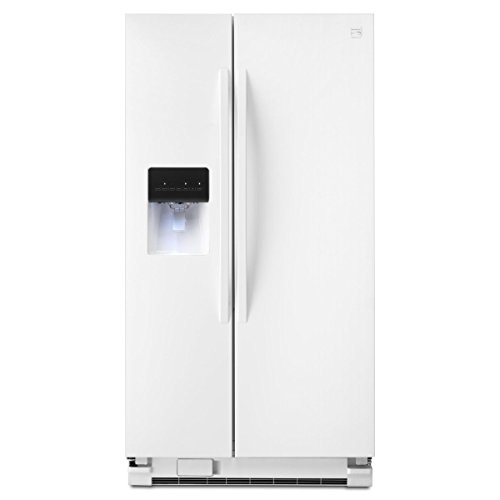 Kenmore 50022 25.4 cu. ft. Side-by-Side Refrigerator in White, includes delivery and hookup (Available in select cities only)
