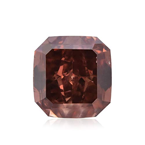 0.55Cts Fancy Deep Brownish Orangy Pink Loose Diamond Natural Color Radiant GIA