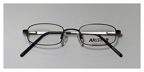 Aristar 6609 Mens/Womens Designer Full-rim Eyeglasses/Eyeglass Frame (44-18-125, Black)