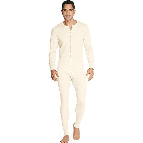 Hanes X-Temp Men's Organic Cotton Thermal Union Suit_Natural_2XL