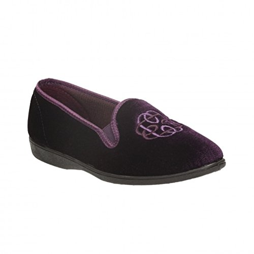 Clarks Marsha Marlo Purple Fabric Womens Slippers