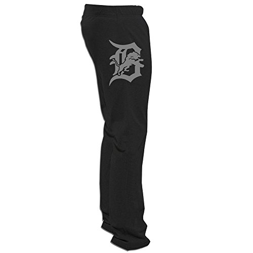 Jade Cute Detroit City Baseball Logo Running Pants For Mens Black Size - Apparell Running
