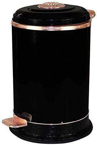 ゴミ箱ゴミ箱レトロなゴミ箱黒い装飾的なゴミ箱ホテルのロビー家庭用ペダルビンホテルカフェゴミ箱