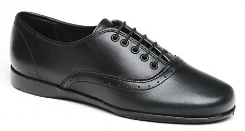 84951f2463563 Toughees Womens Eleanor Lace-up School Shoe Black Size UK 13 EU 32