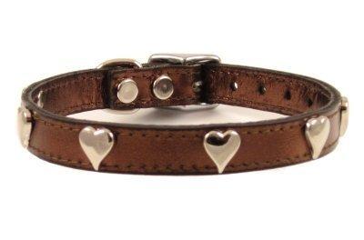 14  Bronze Hearts Dog Collar (Fits 9 -11  Neck)