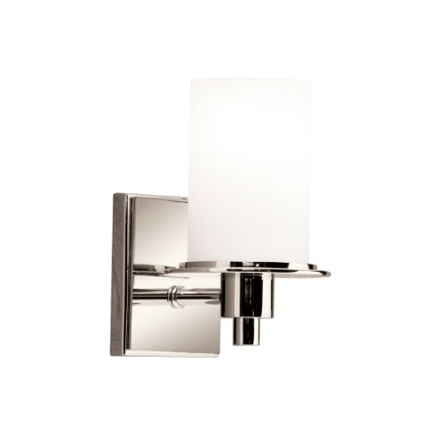 Wall Brass Polished Kichler (Kichler 5436PN Cylinders Wall Sconce 1-Light, Polished Nickel)