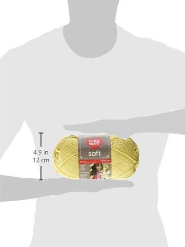 Red Heart E728.4616 Soft Yarn Lemon