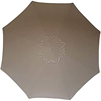 Eliteshade 9ft Patio Umbrella Market Table Outdoor Umbrella Replacement Canopy 8 Ribs (Khaki)  sc 1 st  Amazon.com & Amazon.com : Double Vented 9ft Market Umbrella Canopy 8 Ribs Taupe ...