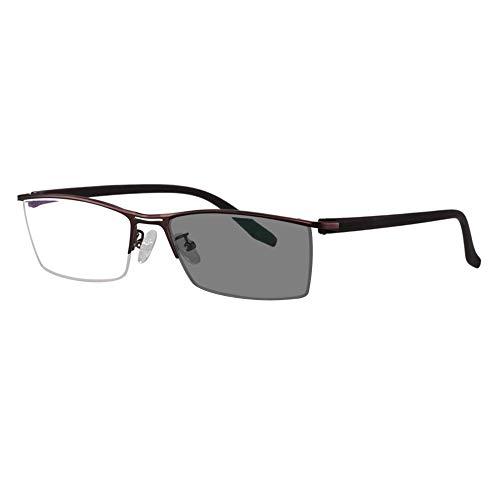 Transition photochromic Progressive multifocal Reading Glasses Custom Metal Strength Frame UV400 Sunglasses 0 to +300 in 25 increments