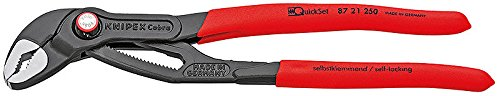 Cobra Quick Set - Knipex 8721250 10 Inch Adjustable Quick Set Cobra Pliers