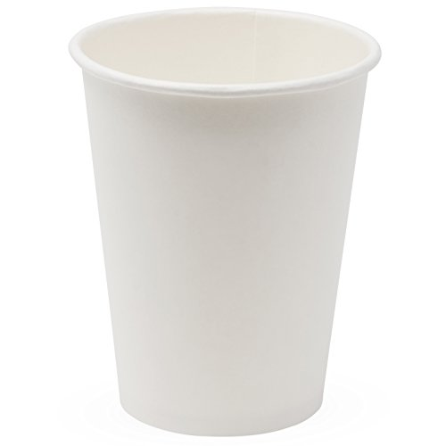 - Simply Deliver 12 oz Paper Hot Cup, Single-Wall, Poly-Coated, White, 1000-Count