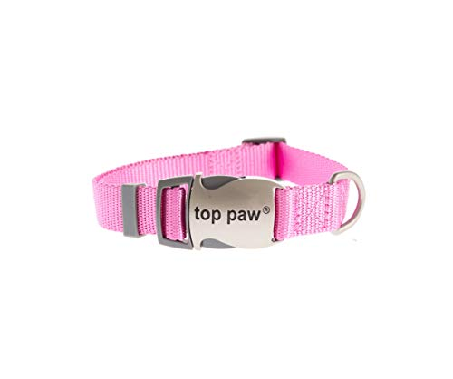 (TOP PAW Signature Adjustable Dog Collar Pink Large)