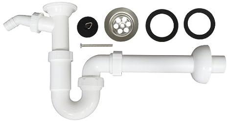 Mit Schubrosette Siphon Design Geruchsverschluss f/ür Waschtisch 1 /¼ Zoll Chrom EXKLUSIV Geruchsverschluss aus Metall