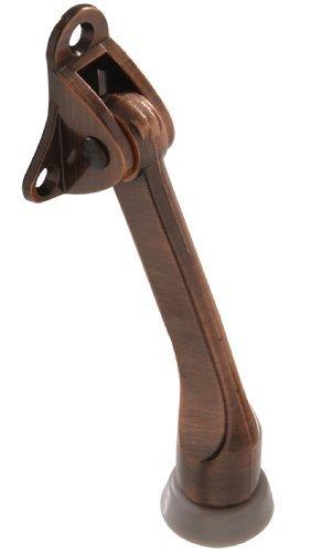 The Hillman Group 852937 4 Kickdown Door Stop- Antique Bronze 1-Pack (2)