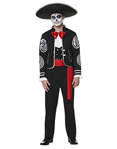 Men's Day of The Dead Costume - for Halloween Party Accessory - Large -