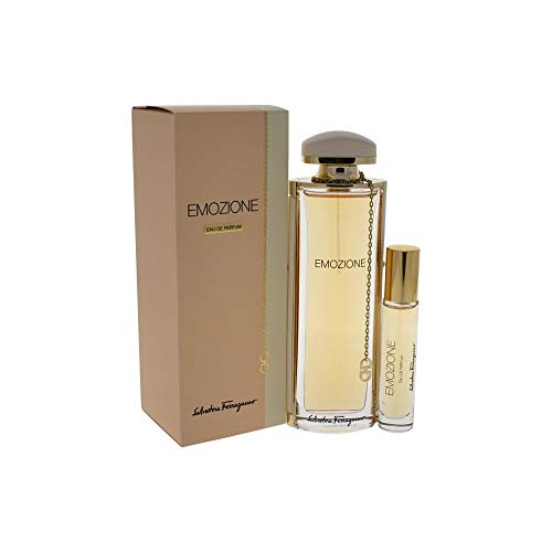 (Salvatore Ferragamo 2 Piece Emozione Eau de Parfum Spray Gift Set for Women)