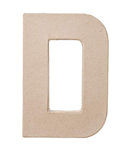 Paper Mache Letter - D - 8 x 5.5 x 1 inches -