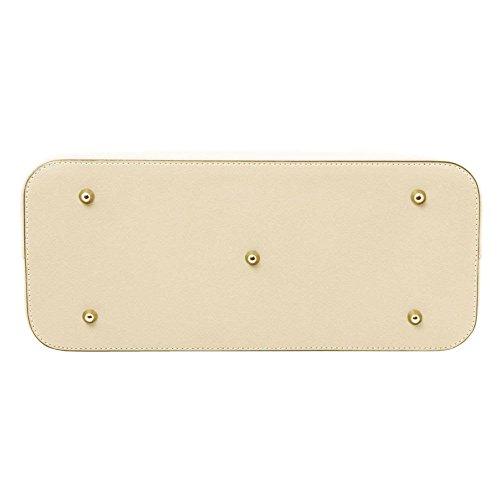 TUSCANY LEATHER TL141412, Borsa a spalla donna Bianco bianco compact