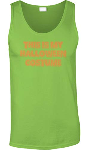 (Blittzen Mens Tank This is My Halloween Costume - Funny, 2XL, Lime)