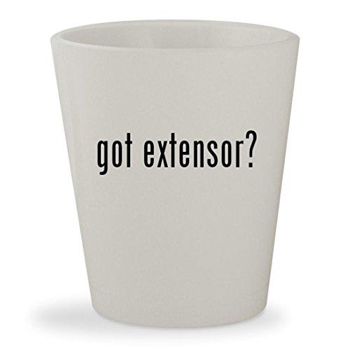 got extensor? - White Ceramic 1.5oz Shot Glass