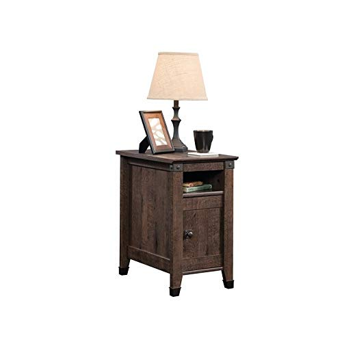 Sauder Carson Forge Side Table, Coffee Oak finish (Rustic For Tables End Sale)